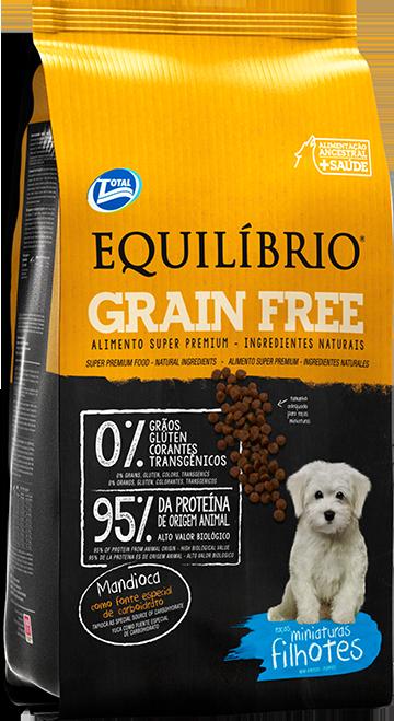 Equilíbrio Grain Free – Raças Miniaturas Filhotes