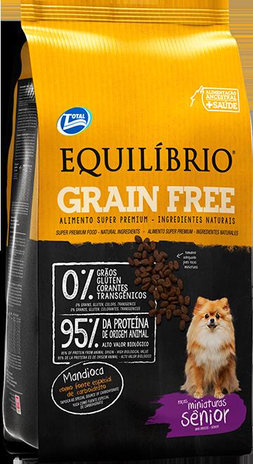 Equilíbrio Grain Free – Raças Miniaturas Sênior