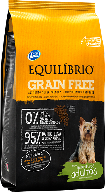 Equil�brio Grain Free � Ra�as Miniaturas Adultos