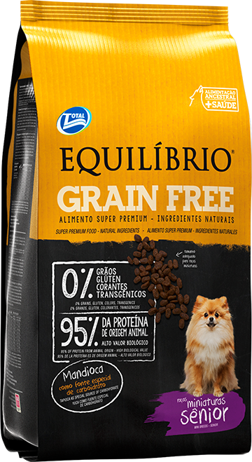 Equil�brio Grain Free � Ra�as Miniaturas S�nior