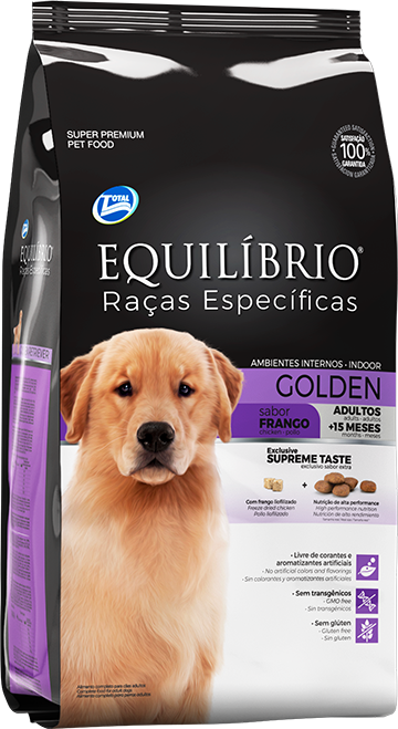 Golden Retriever Adulto | Equilíbrio Total Alimentos